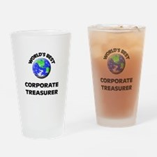 World's Best Corporate Treasurer Drinking Glass