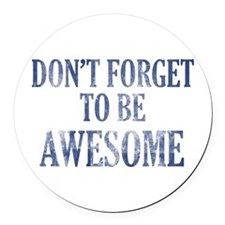 Funny Awesome designs Round Car Magnet