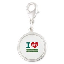 Mozambican Girlfriend designs Silver Round Charm