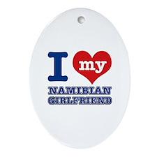 Namibian Girlfriend designs Ornament (Oval)