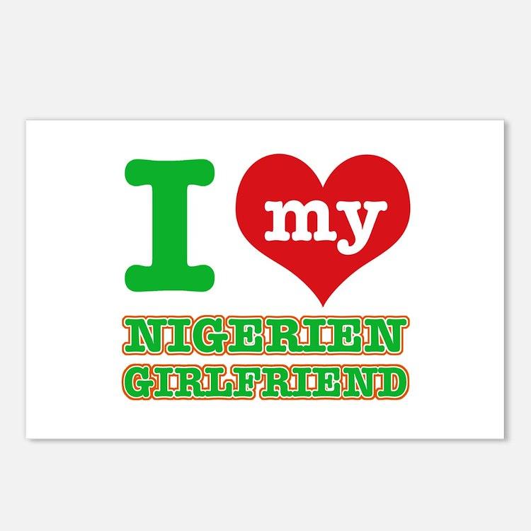 Nigerian Girlfriend designs Postcards (Package of