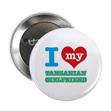 "Tanzanian Girlfriend designs 2.25"" Button (10 pack"