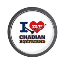 I love my Chadian Boyfriend Wall Clock