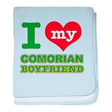 I love my Comorian Boyfriend baby blanket