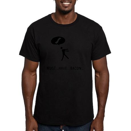 Bacon Lover Men's Fitted T-Shirt (dark)