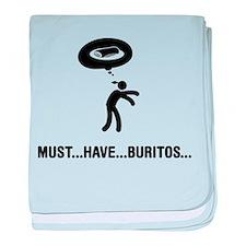 Burrito Lover baby blanket