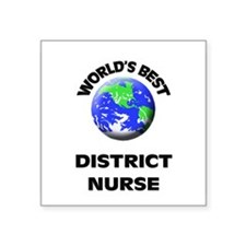 World's Best District Nurse Sticker