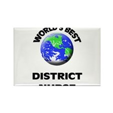 World's Best District Nurse Rectangle Magnet