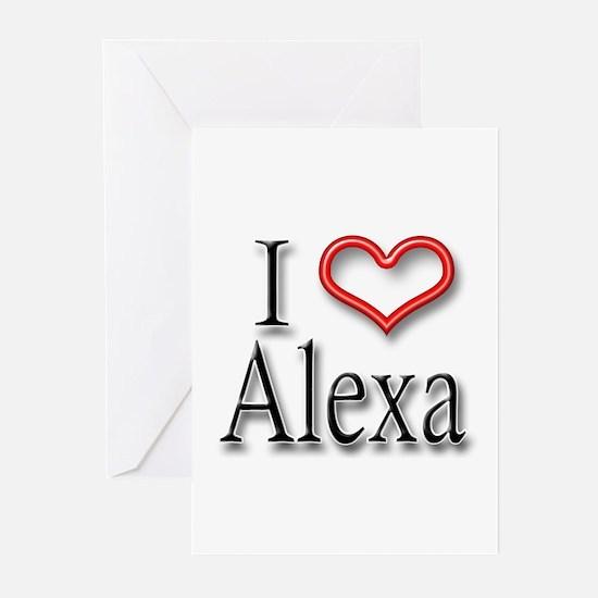 I Heart Alexa Greeting Cards (Pk of 10)