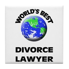World's Best Divorce Lawyer Tile Coaster