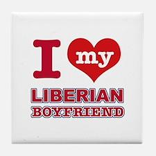 I love my Liberian Boyfriend Tile Coaster