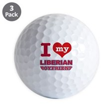 I love my Liberian Boyfriend Golf Ball