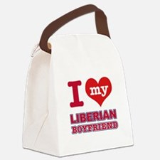 I love my Liberian Boyfriend Canvas Lunch Bag