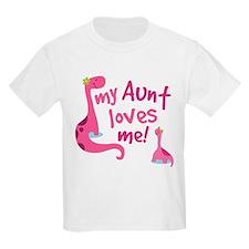 My Aunt Loves Me Dinosaur T-Shirt