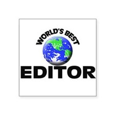 World's Best Editor Sticker