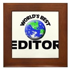 World's Best Editor Framed Tile