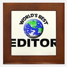 World's Best Editor Framed Tile