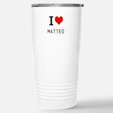 i love matteo Travel Mug