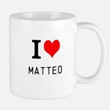 i love matteo Small Small Mug