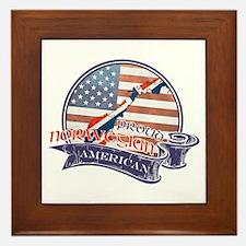 Proud Norwegian American Framed Tile
