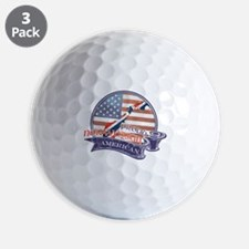 Proud Norwegian American Golf Ball