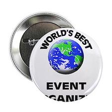"""World's Best Event Organizer 2.25"""" Button"""