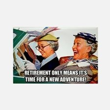Retirement Adventure Rectangle Magnet