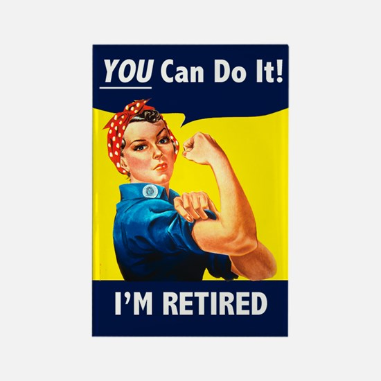 Rosie the Retired Riveter Rectangle Magnet