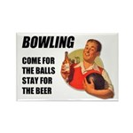 Beer and Bowling Rectangle Magnet