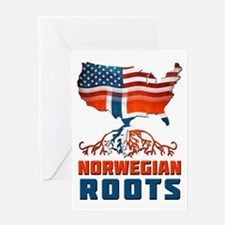 American Norwegian Roots Greeting Card