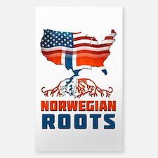 American Norwegian Roots Decal