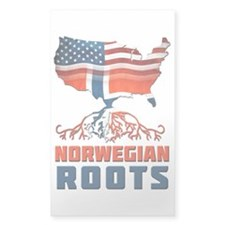 American Norwegian Roots Decal
