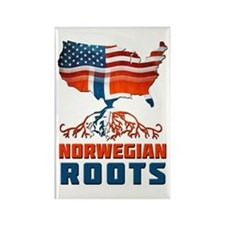 American Norwegian Roots Rectangle Magnet