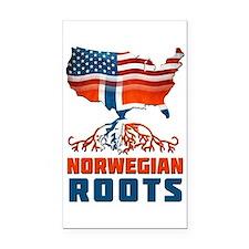 American Norwegian Roots Rectangle Car Magnet