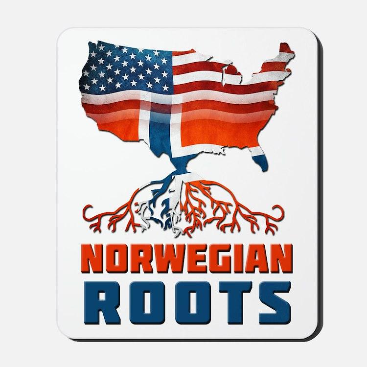American Norwegian Roots Mousepad