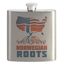 American Norwegian Roots Flask