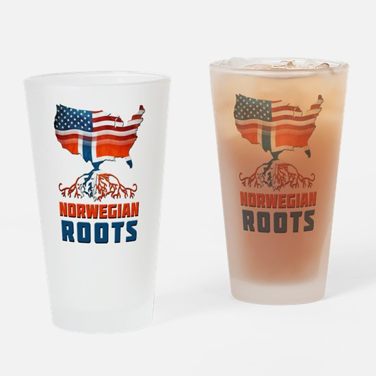 American Norwegian Roots Drinking Glass