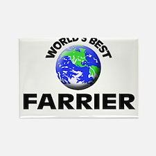 World's Best Farrier Rectangle Magnet