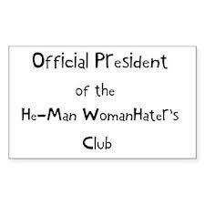 Official He Man Woman Hater's Sticker (Rectangular