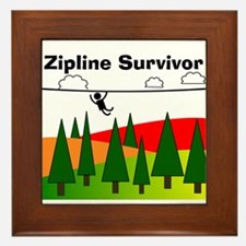 Zipline Survivor Framed Tile