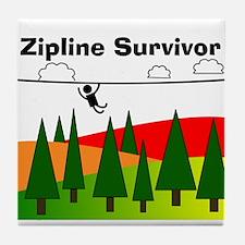 Zipline Survivor Tile Coaster