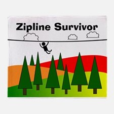 Zipline Survivor Throw Blanket