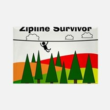Zipline Survivor Rectangle Magnet