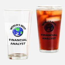 World's Best Financial Analyst Drinking Glass