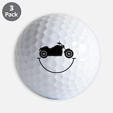 Happy Biker Golf Ball