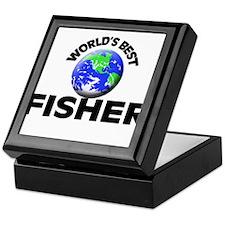 World's Best Fisher Keepsake Box