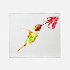 Ruby Throated Humming Bird Throw Blanket