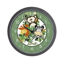 Zoo Crew Jungle Wall Clock Personalized Wall Clock