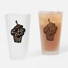 Camo Camouflage Cupcake Drinking Glass