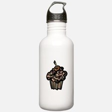 Camo Camouflage Cupcake Water Bottle